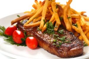 Steak und Pommes Frites