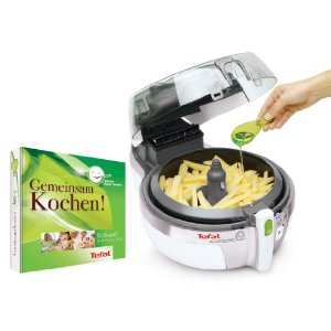 Tefal AH 9000 ActiFry Family Friteuse ohne Fett mit Kochbuch